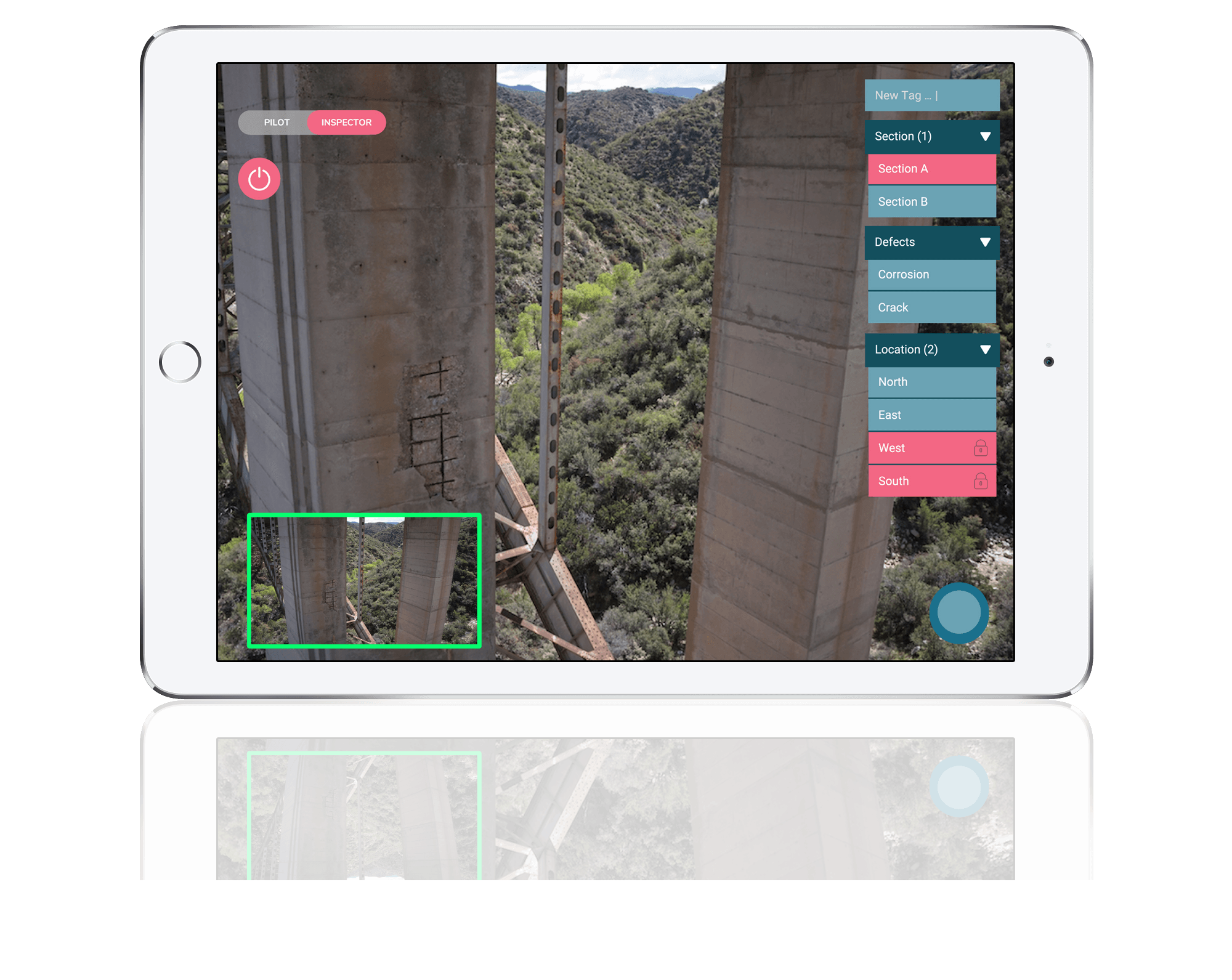 Label your drone inspection images in real time with the NAR software.